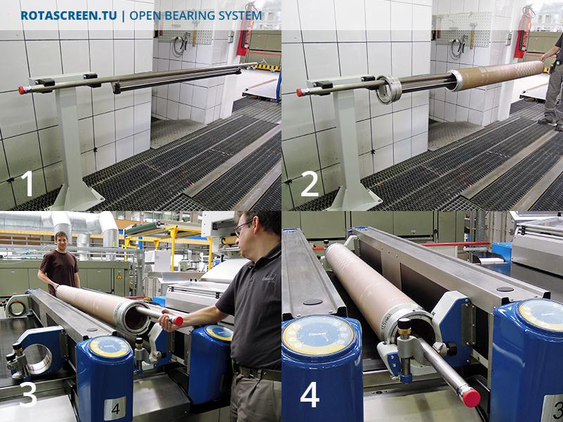 Rotascreen TU Open Bearing System - Set-Up