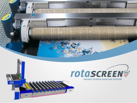 ZIMMER AUSTRIA ROTASCREEN Printing Machine